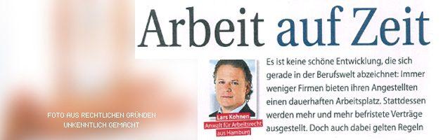 """Interview """"Arbeit auf Zeit"""" in der Lea mit Fachanwalt Kohnen"""